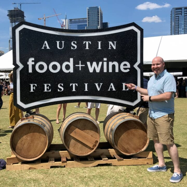 The author at the 2018 Austin Food and Wine Festival