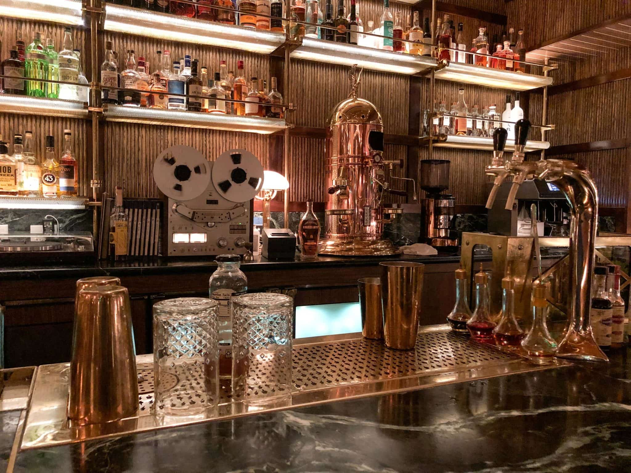 Beautiful bar in the main dining room at Born and Raised