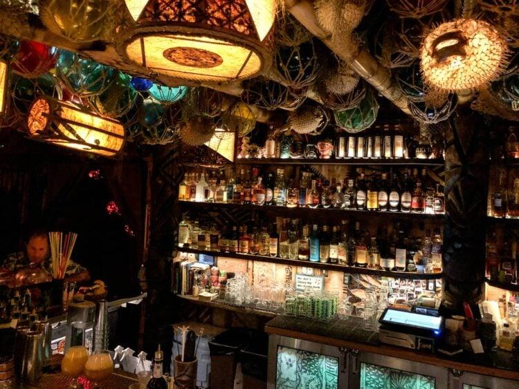 The bar at False Idol