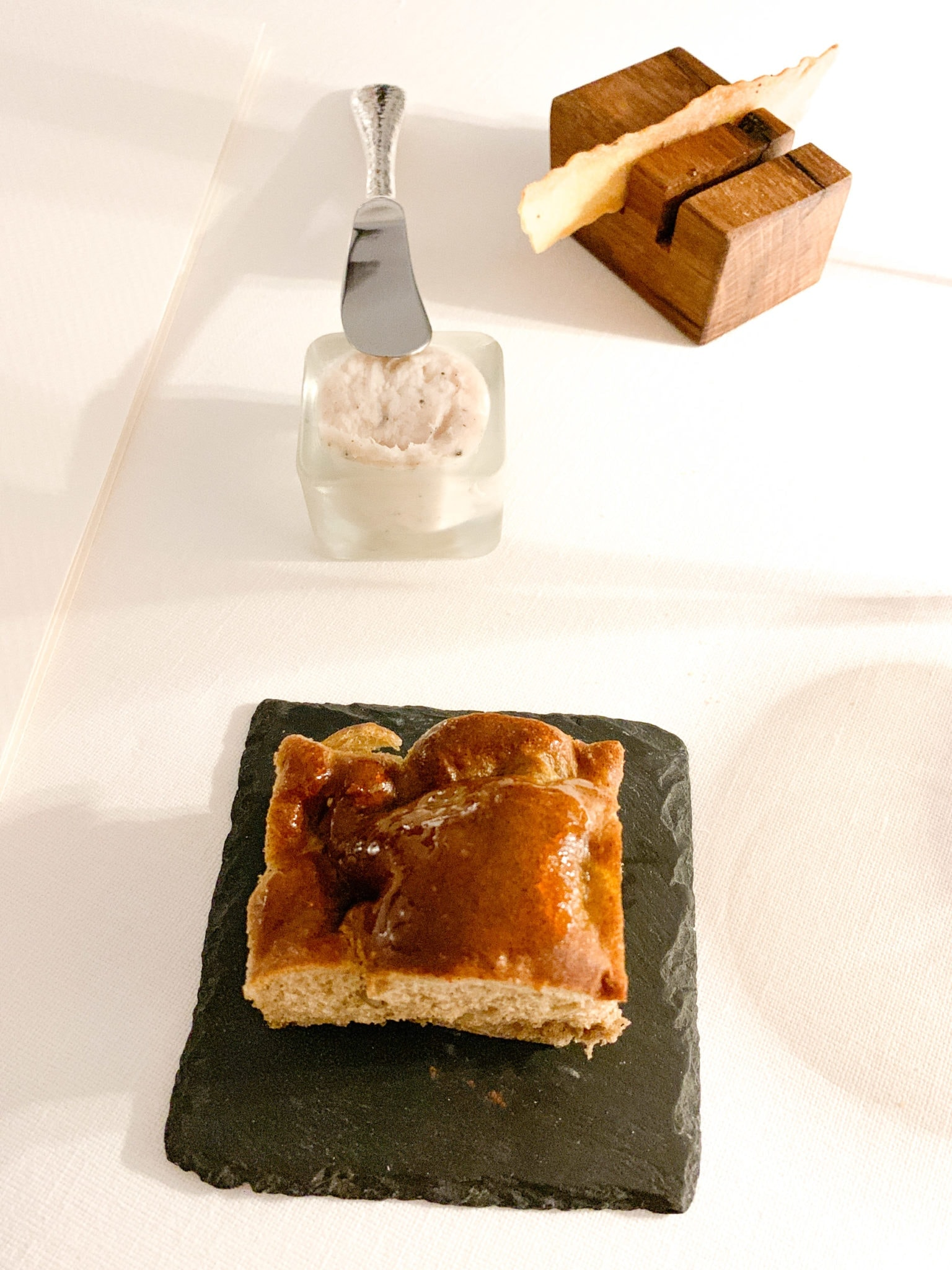 Focaccia with lard (pork fat)