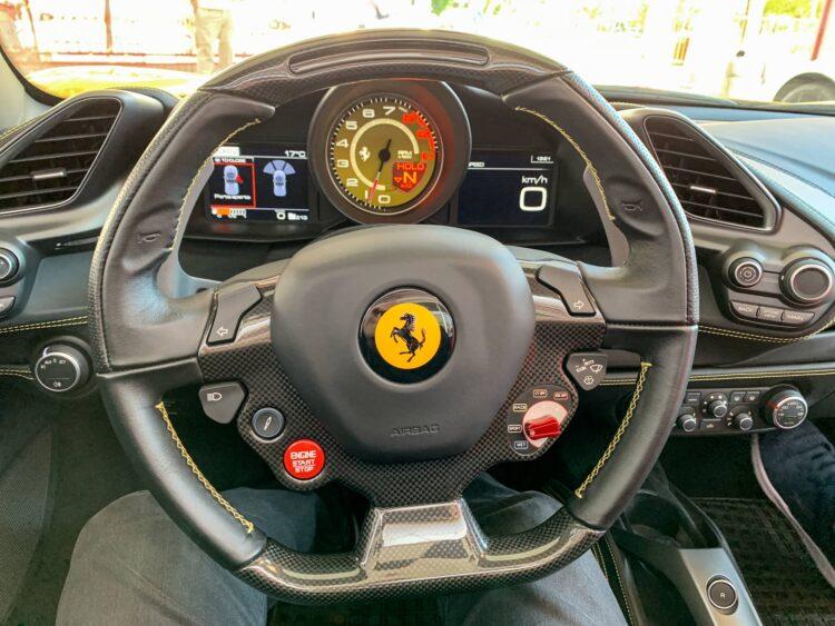 Behind the wheel of a Ferrari 488