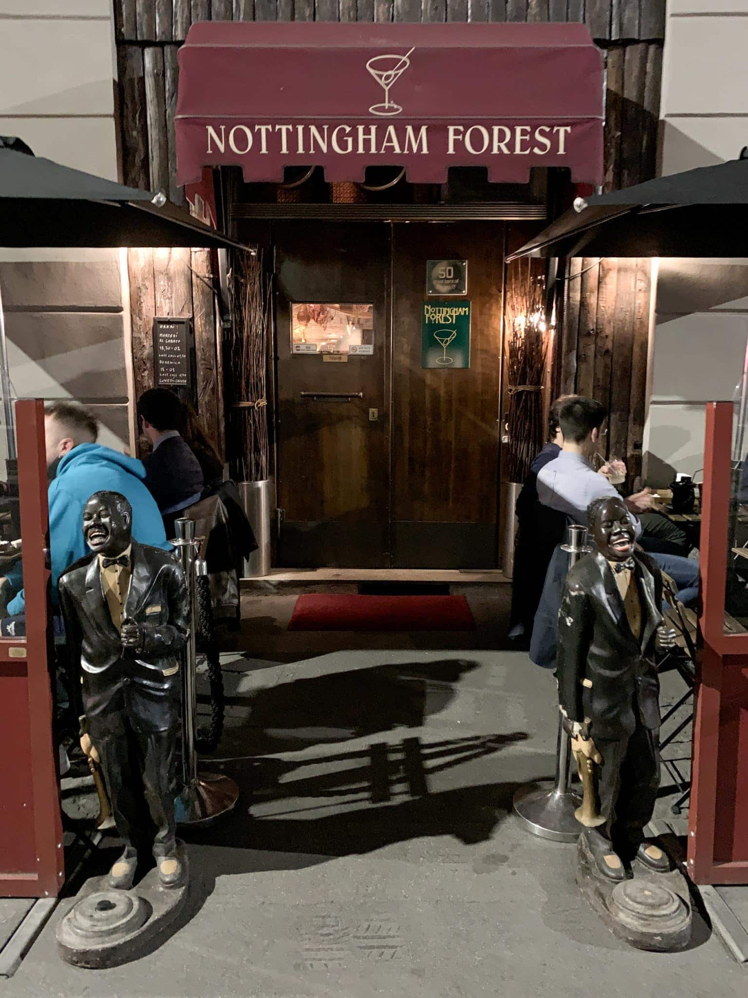 Entrance to Nottingham Forest
