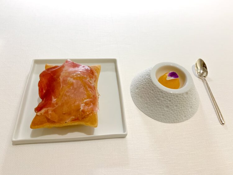 Prosciutto and fried dough