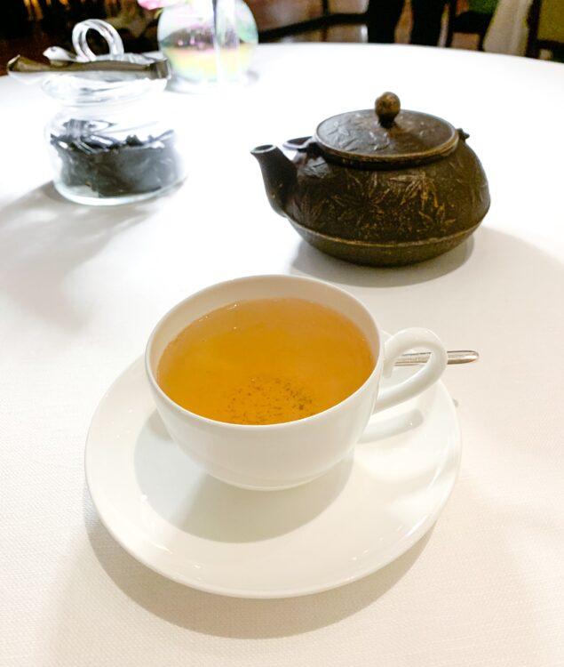 Japanese green tea and black licorice
