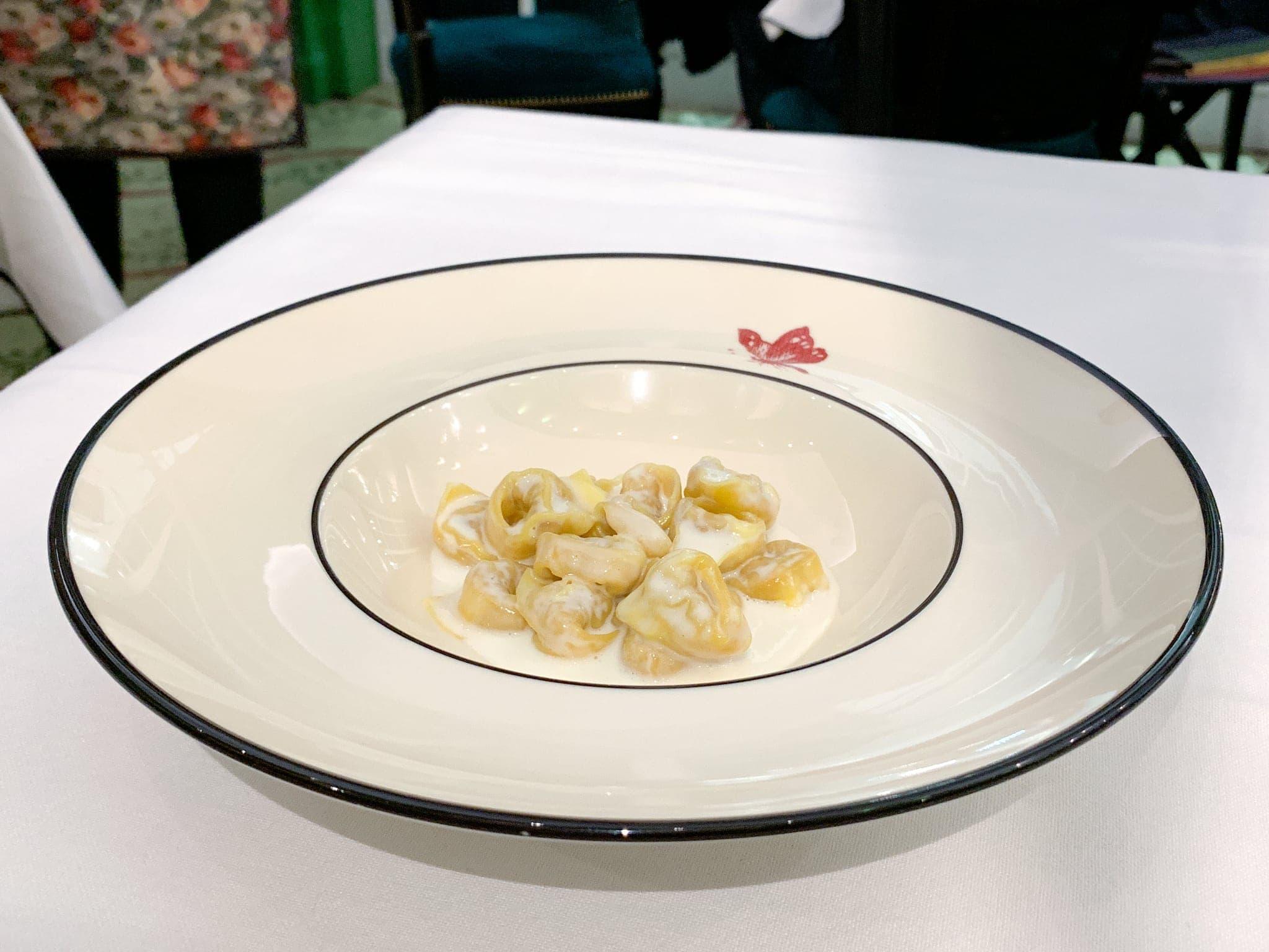 Tortellini with Parmigiano Reggiano cream