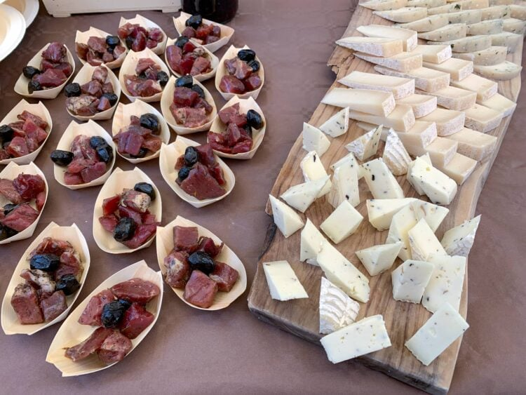 Wild boar and various organic cheeses