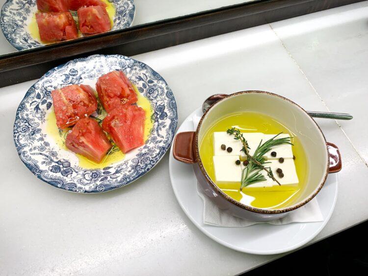 Tomato and feta cheese salad