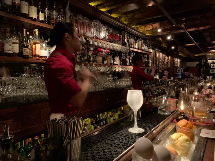 The upstairs Parlour bar at the Dead Rabbit