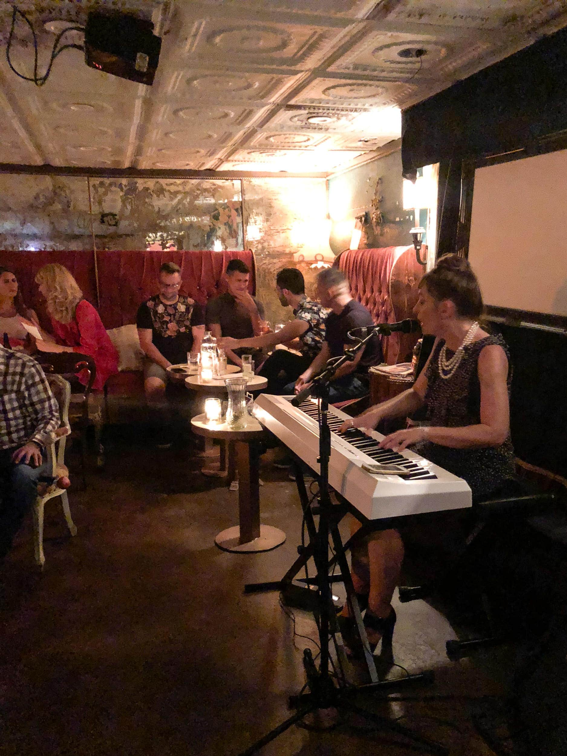 Live music at the Milonga Room