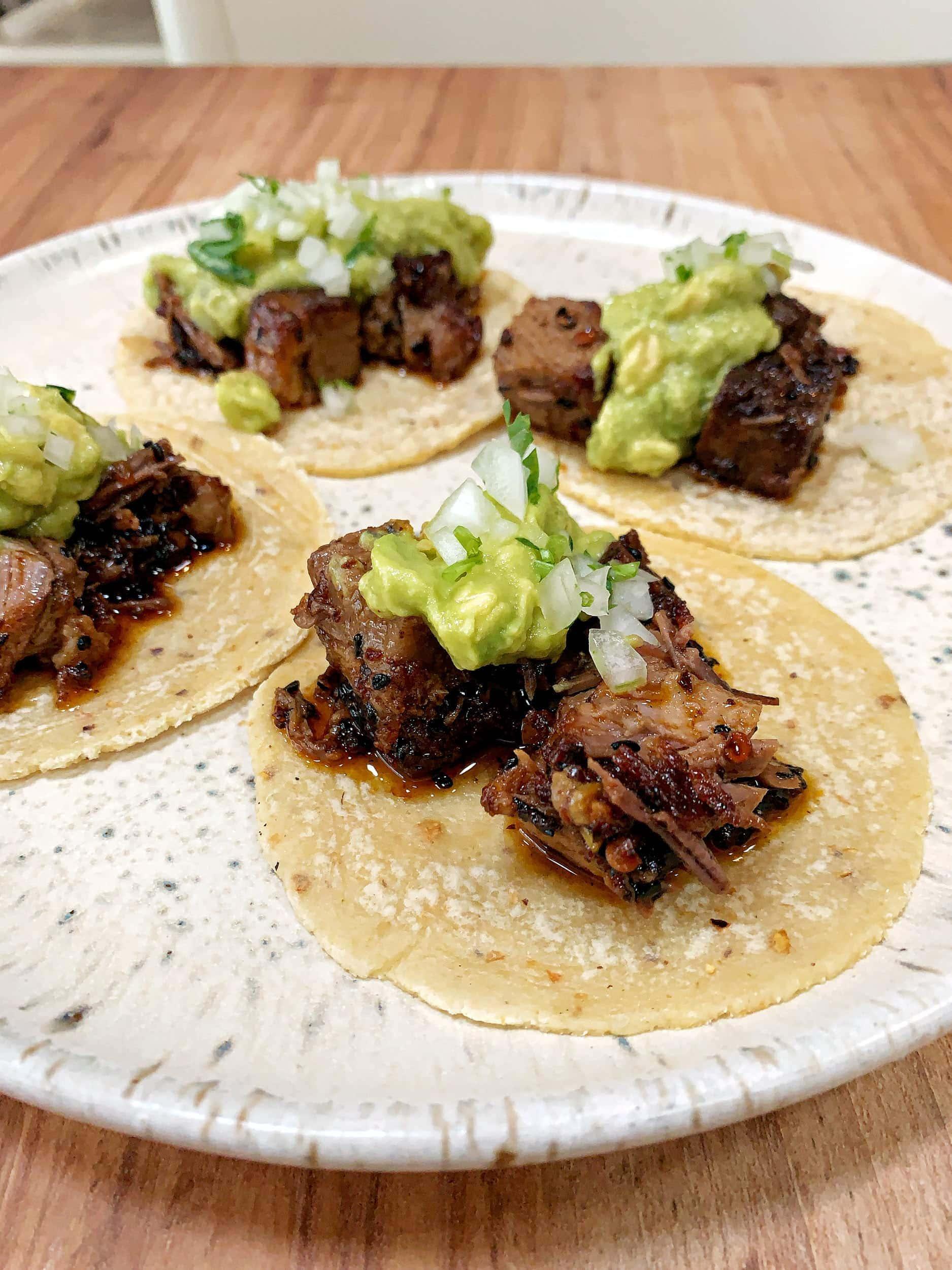 Brisket taco at Suerte
