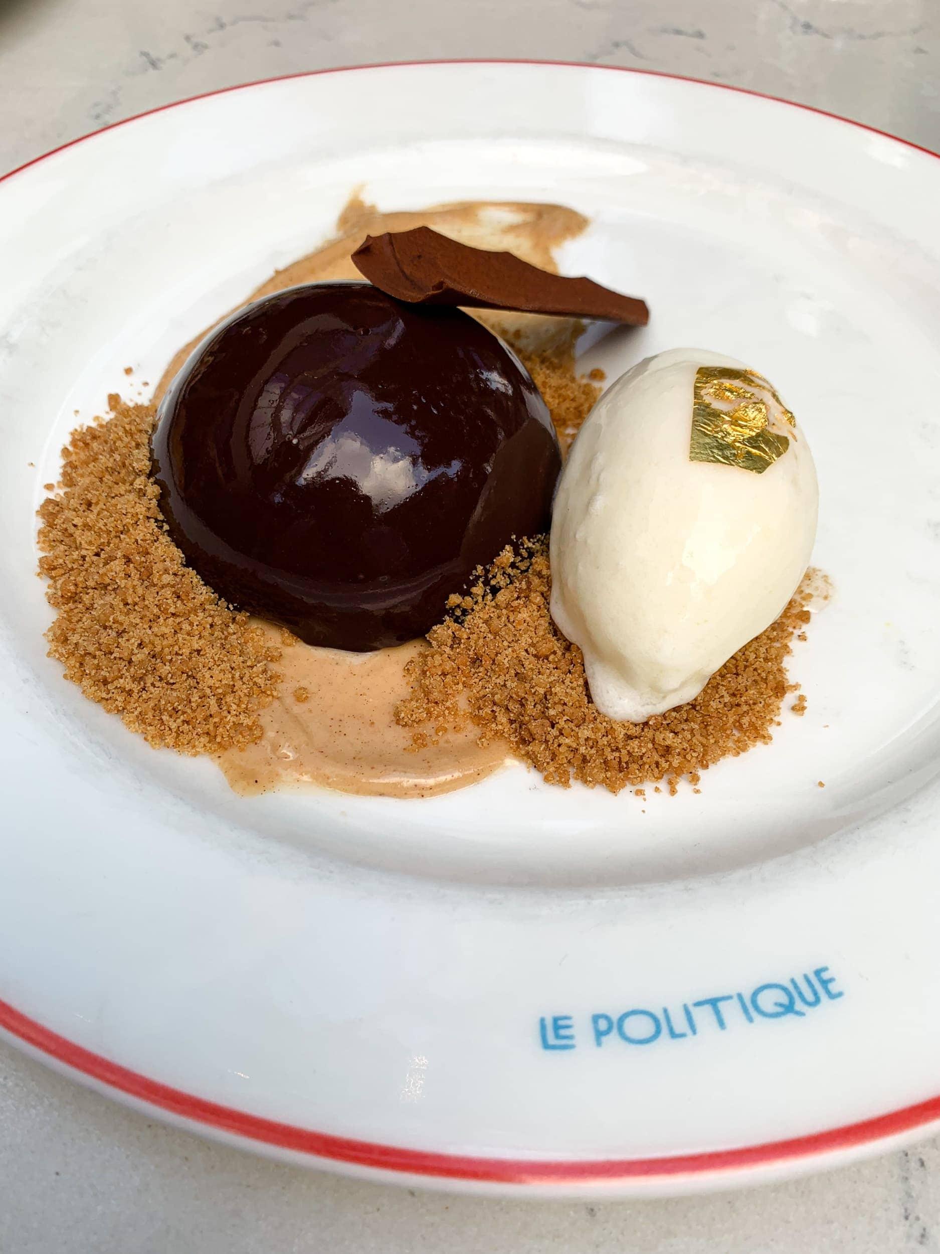 Dark chocolate mousse at Le Politique
