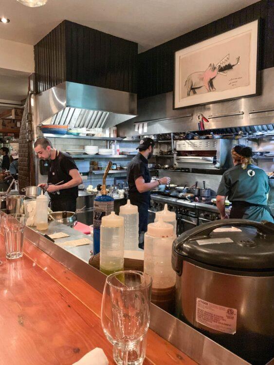 Au Pied de Cochon kitchen kitchen