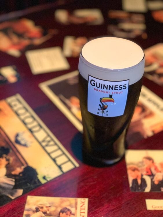 Guinness at L Street Tavern, where Good Will Hunting was filmed