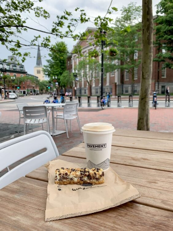 Pavement coffee and an everything bar, Harvard Square