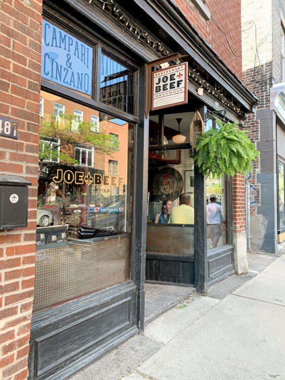 Joe Beef restaurant in Montreal, Canada