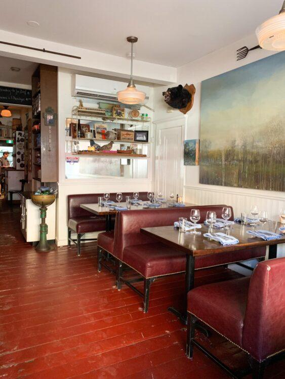 The original dining room at Joe Beef