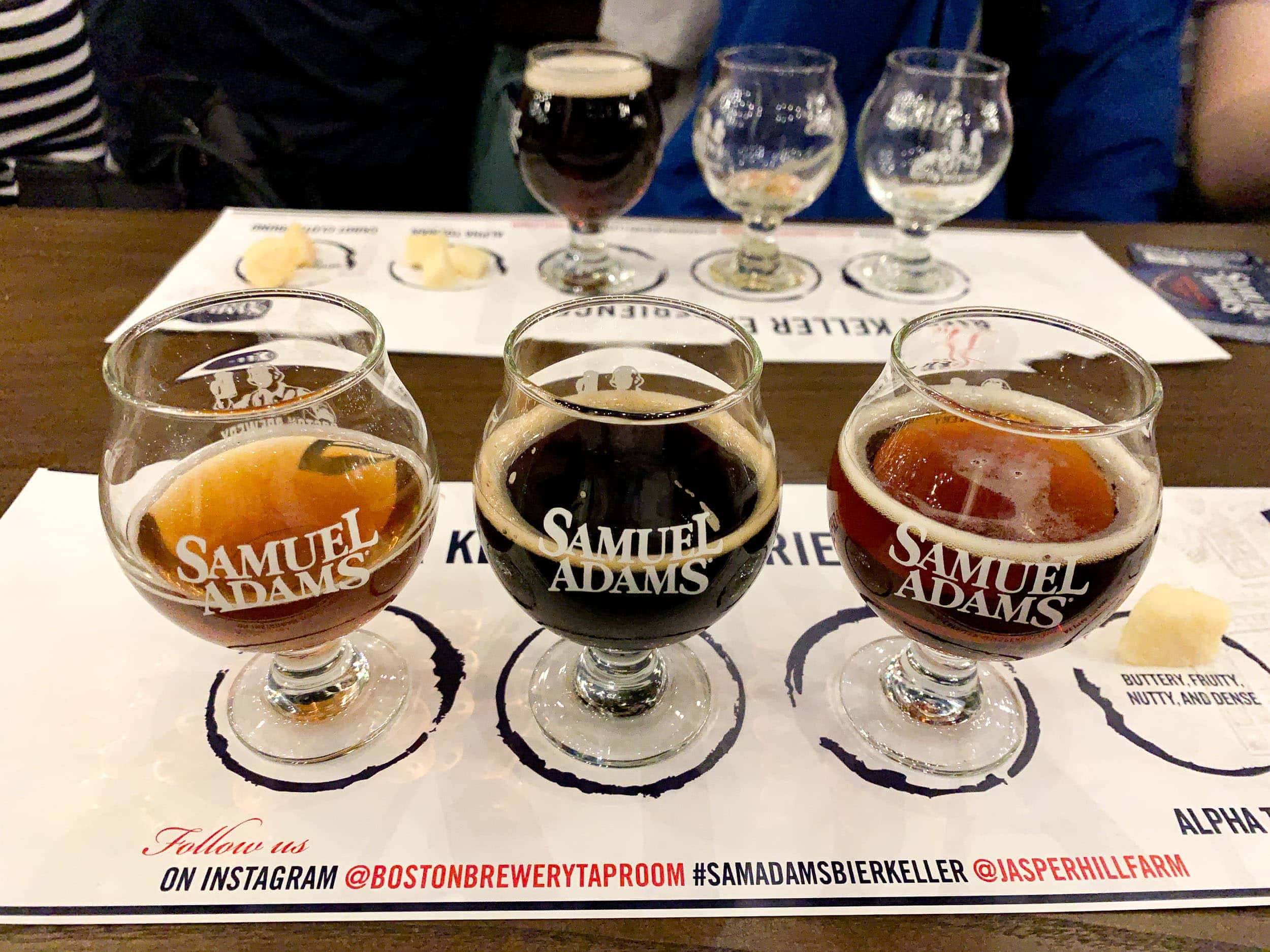 Samuel Adams beer tasting