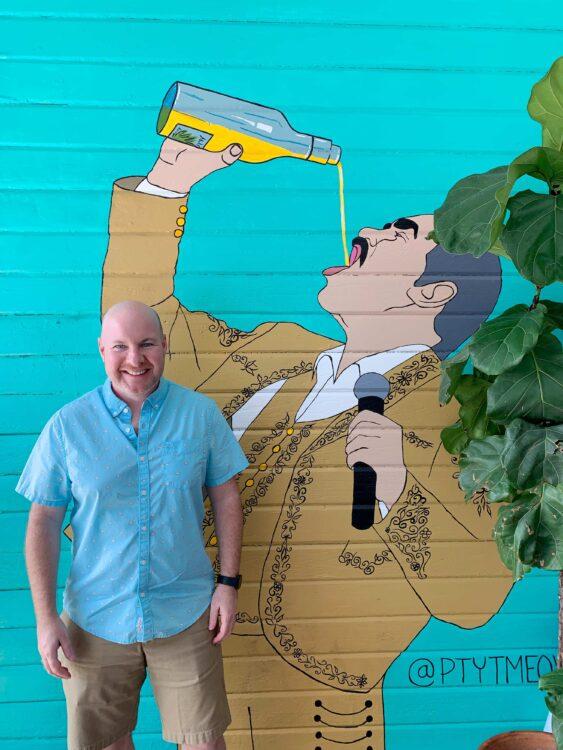 Dave at Gabriella's restaurant in Austin