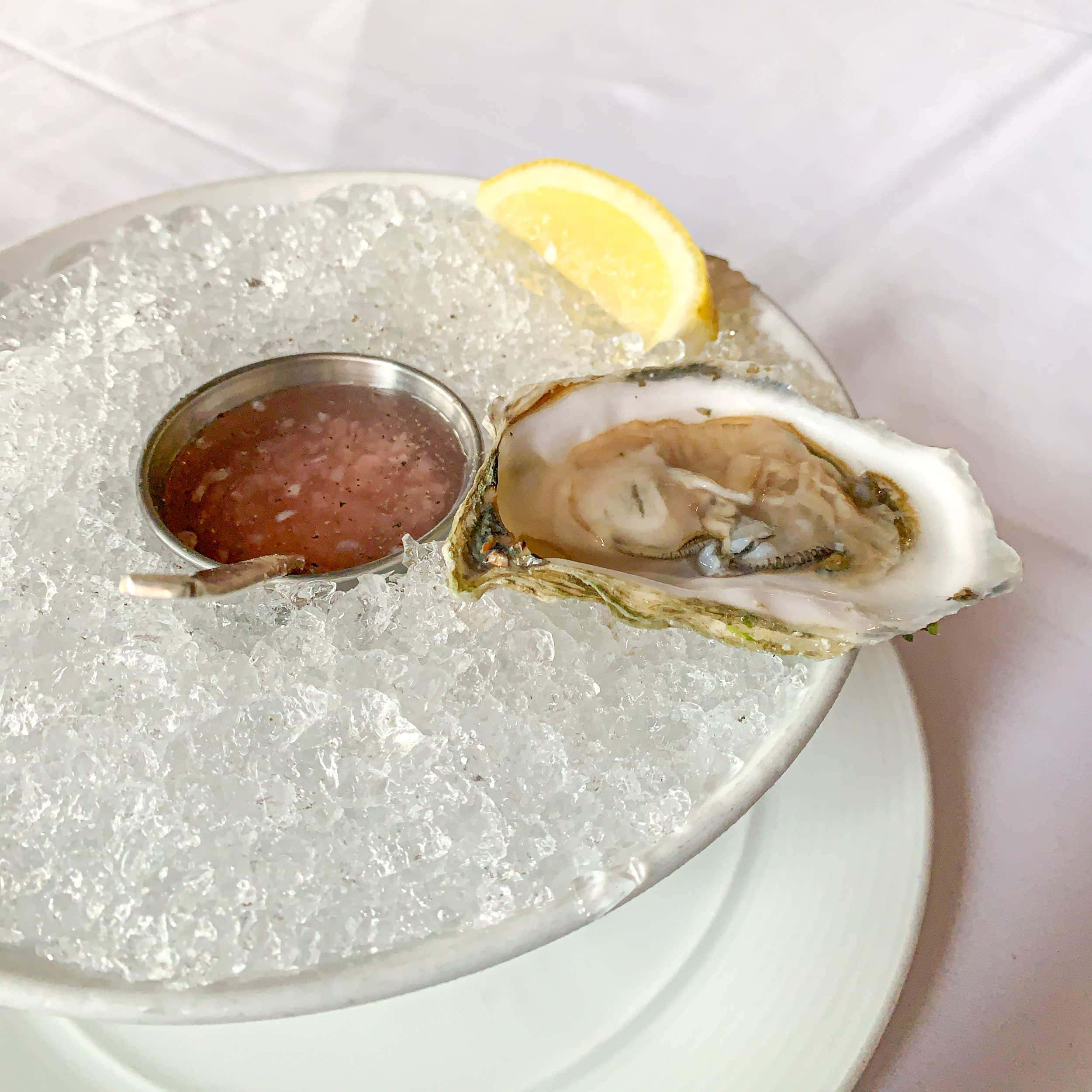 East coast oyster with prosecco mignonette