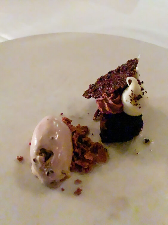 Peppermint Patty with mascarpone and cocoa nib
