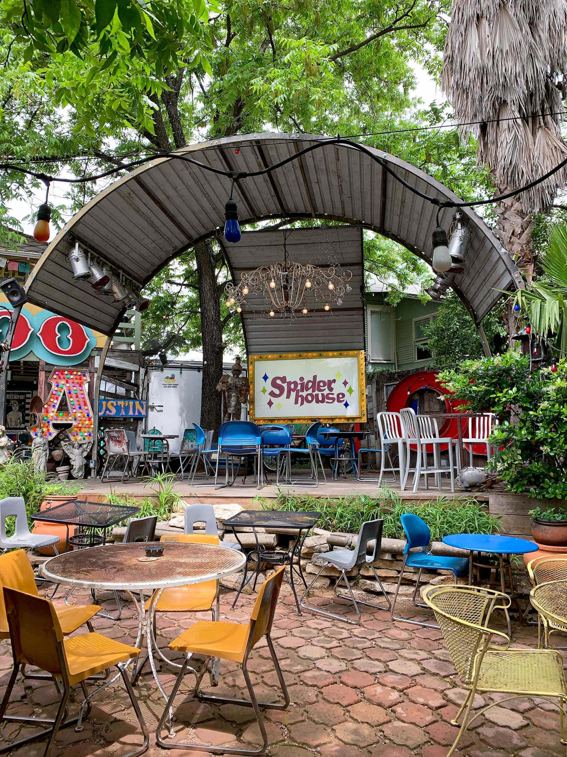 Spider House is one of the oldest and best coffee shops in Austin, TX