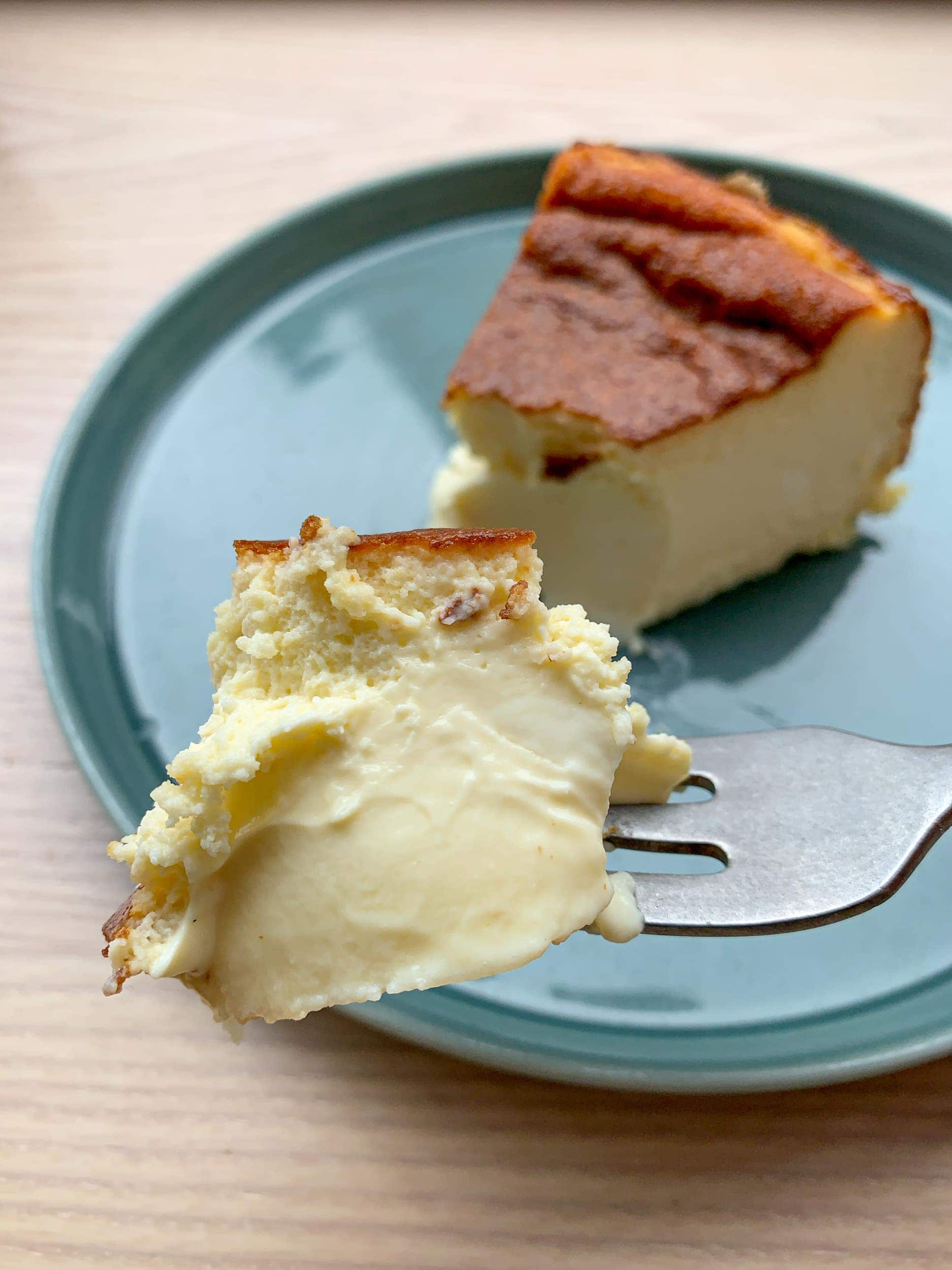 This Basque cheesecake was one of the best desserts I ate all year