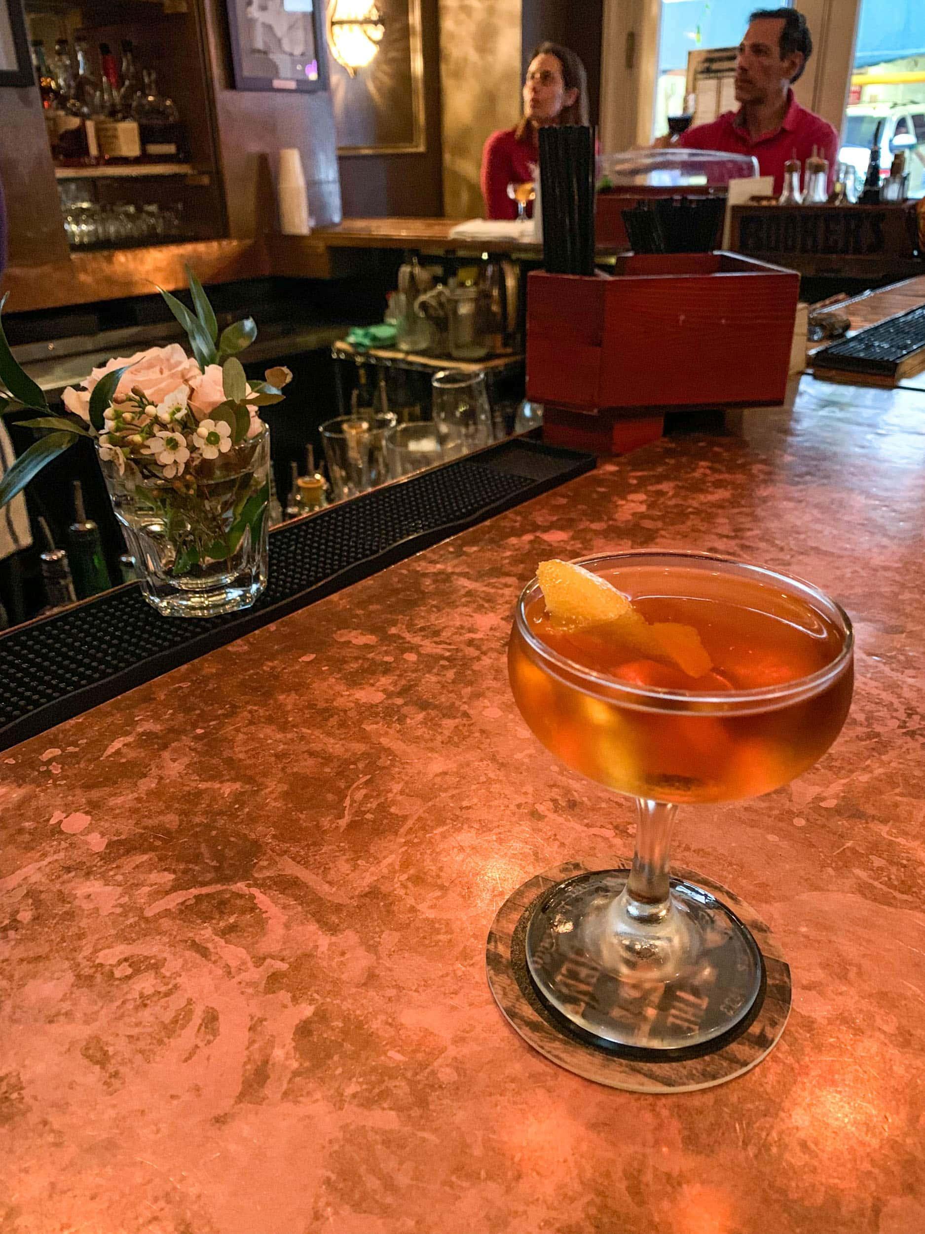 Martinez cocktail at 21st Amendment Bar