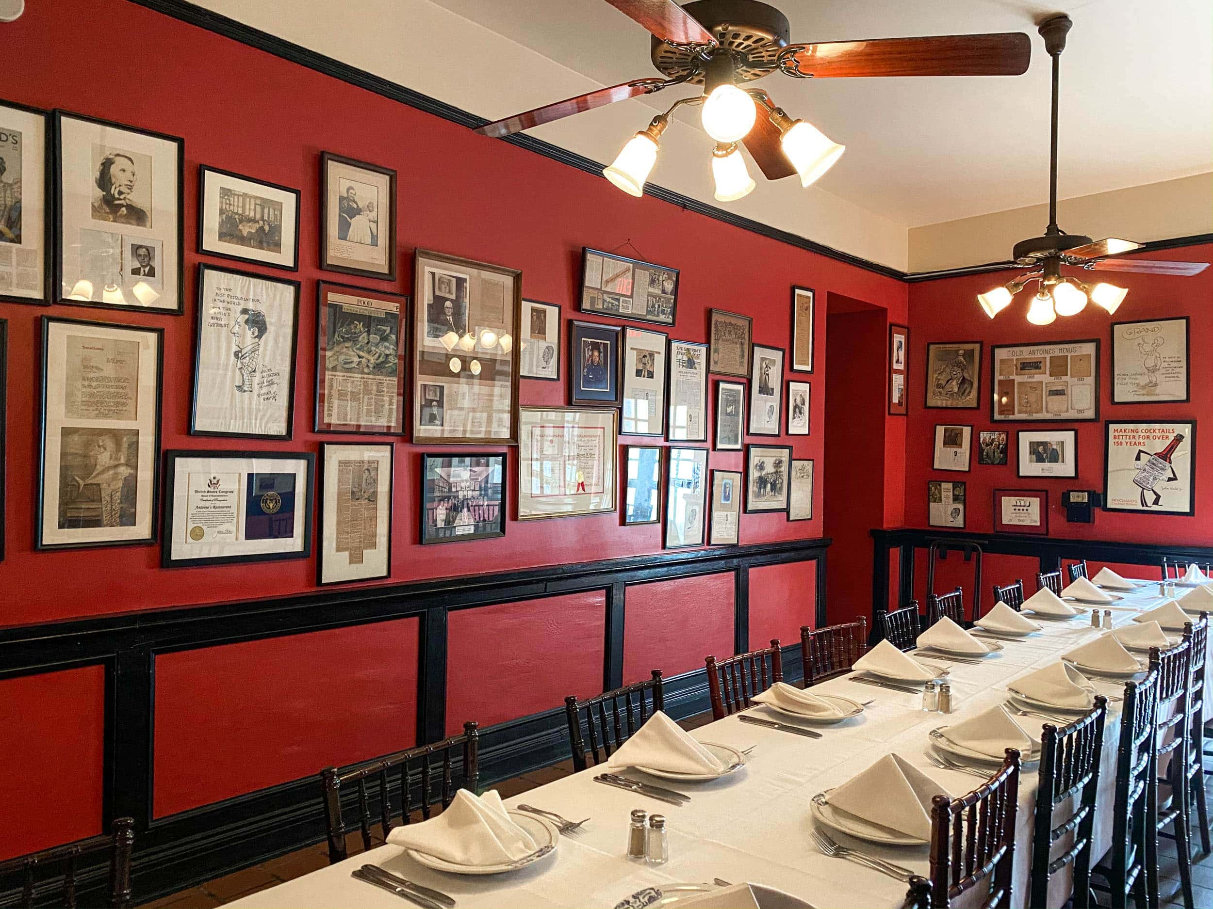 "The ""Mystery Room"" at Antoine's New Orleans, the oldest restaurant in the city"