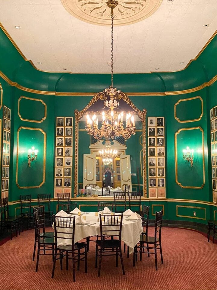Private dining room at Antoine's Restaurant
