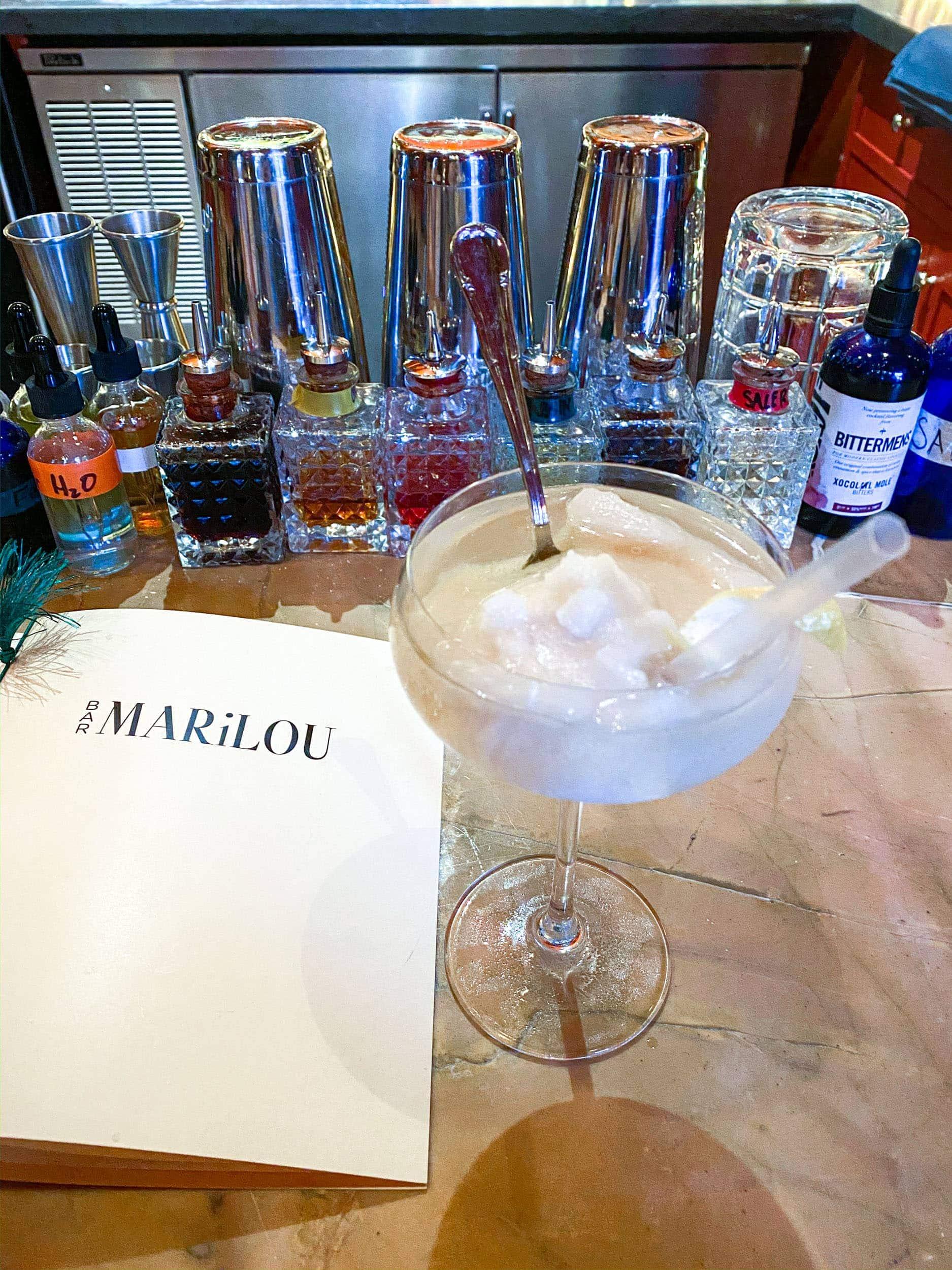 Tequila slushee at Bar Marilou