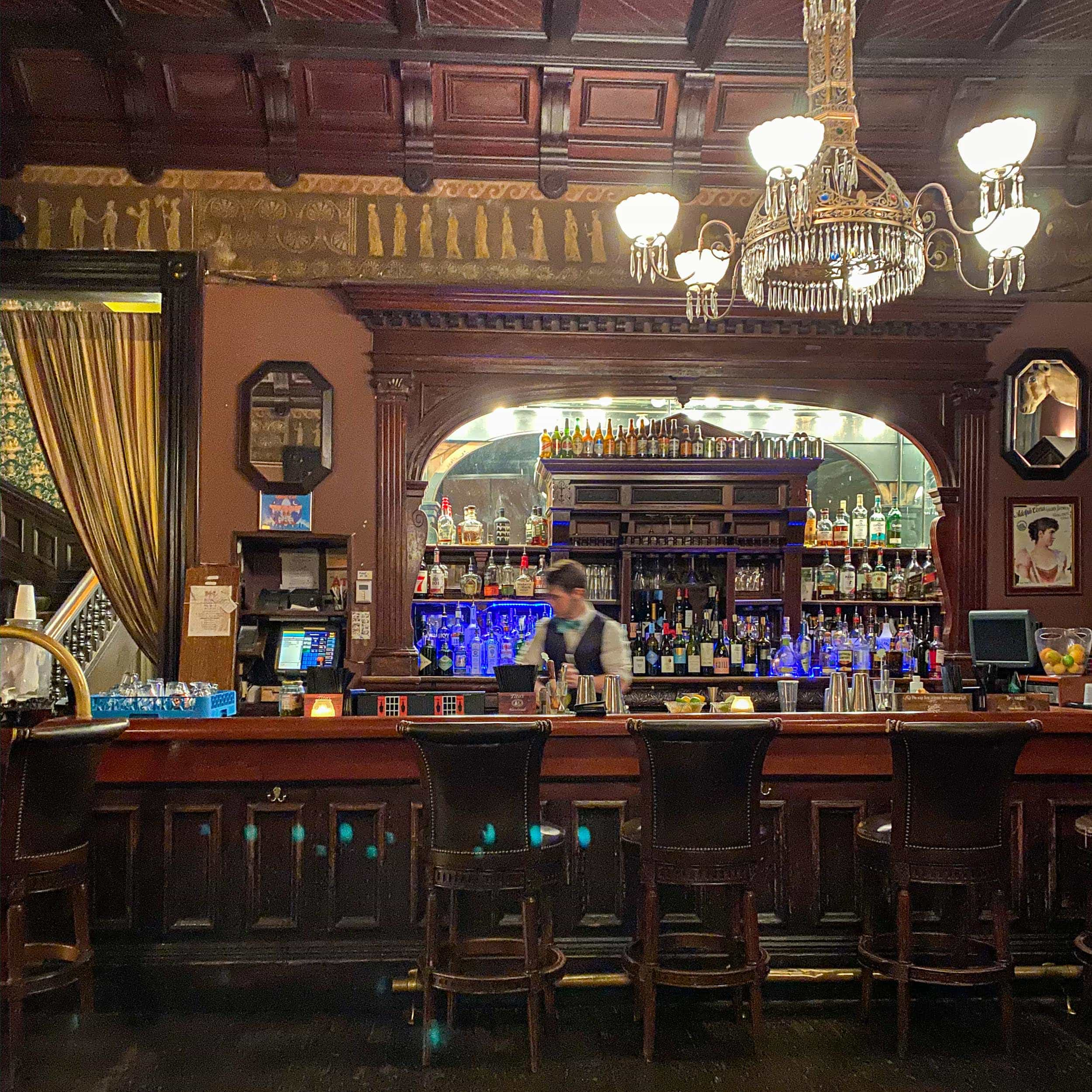 One of the coolest cocktail bars in New Orleans is at the Columns Hotel