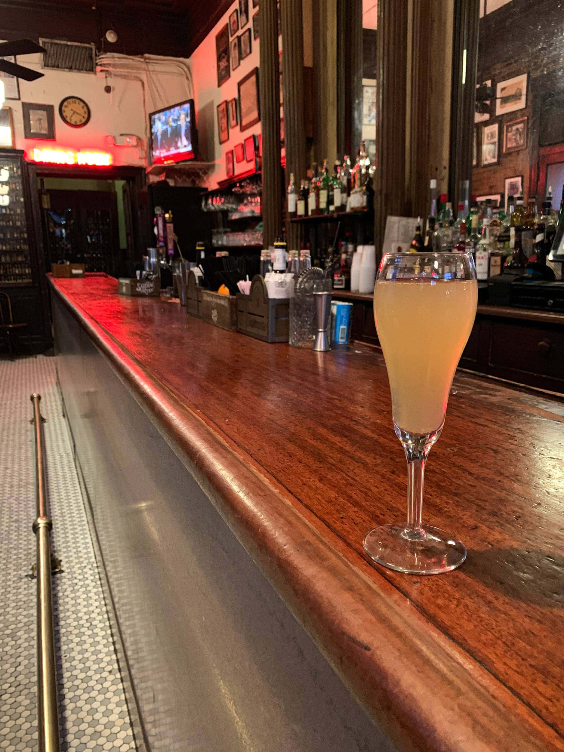French 75 at Tujague's, the oldest standing bar in the United States