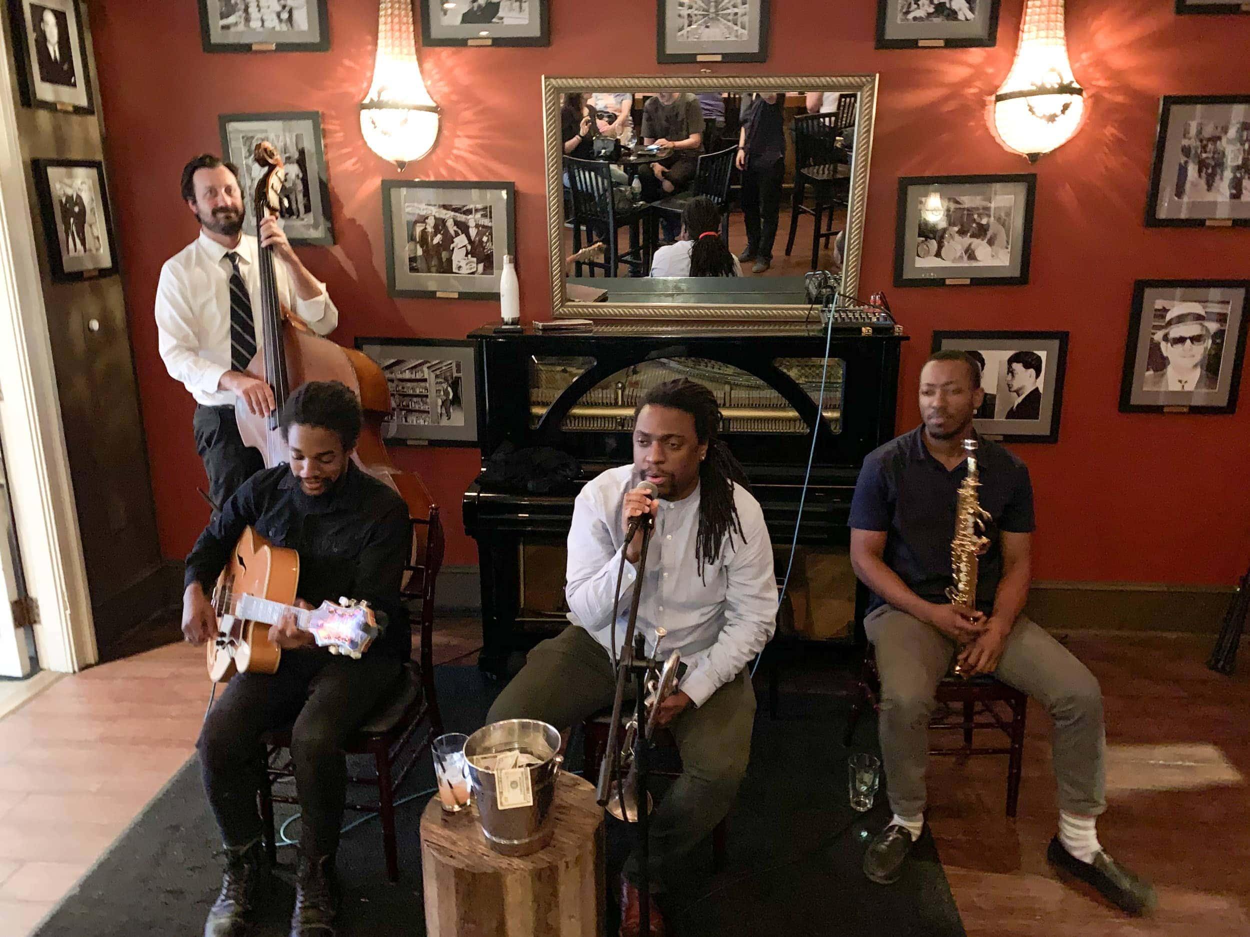 Live jazz at the 21st Amendment Bar
