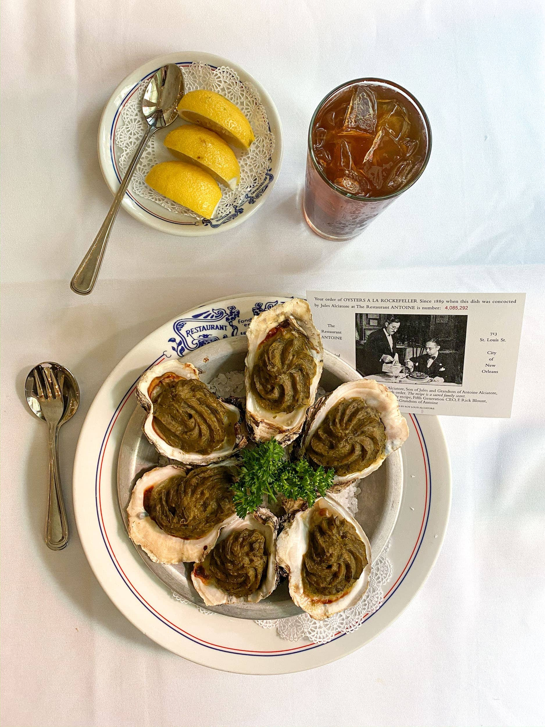 Oysters Rockefeller at Antoine's New Orleans