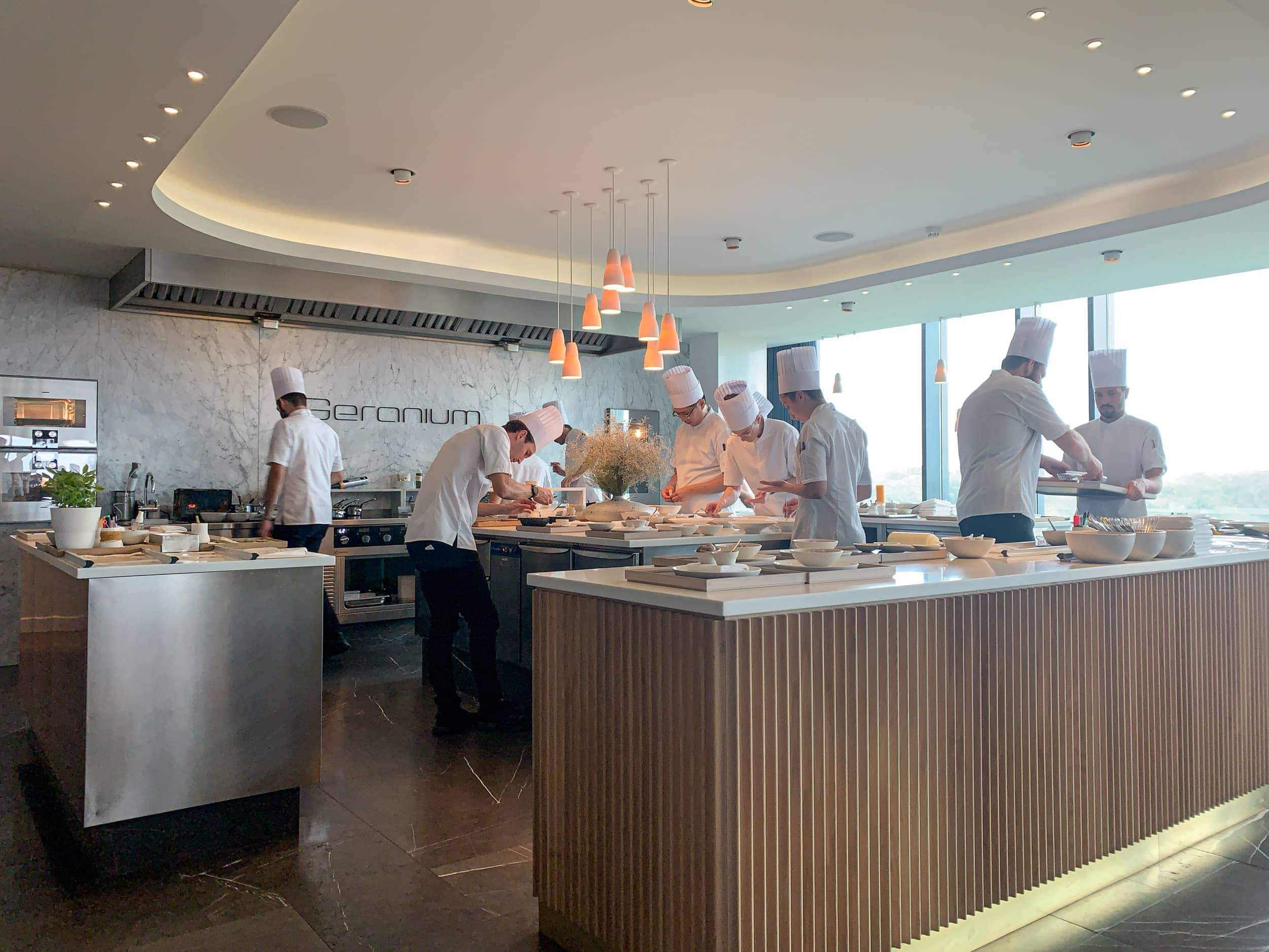 The open kitchen at Geranium