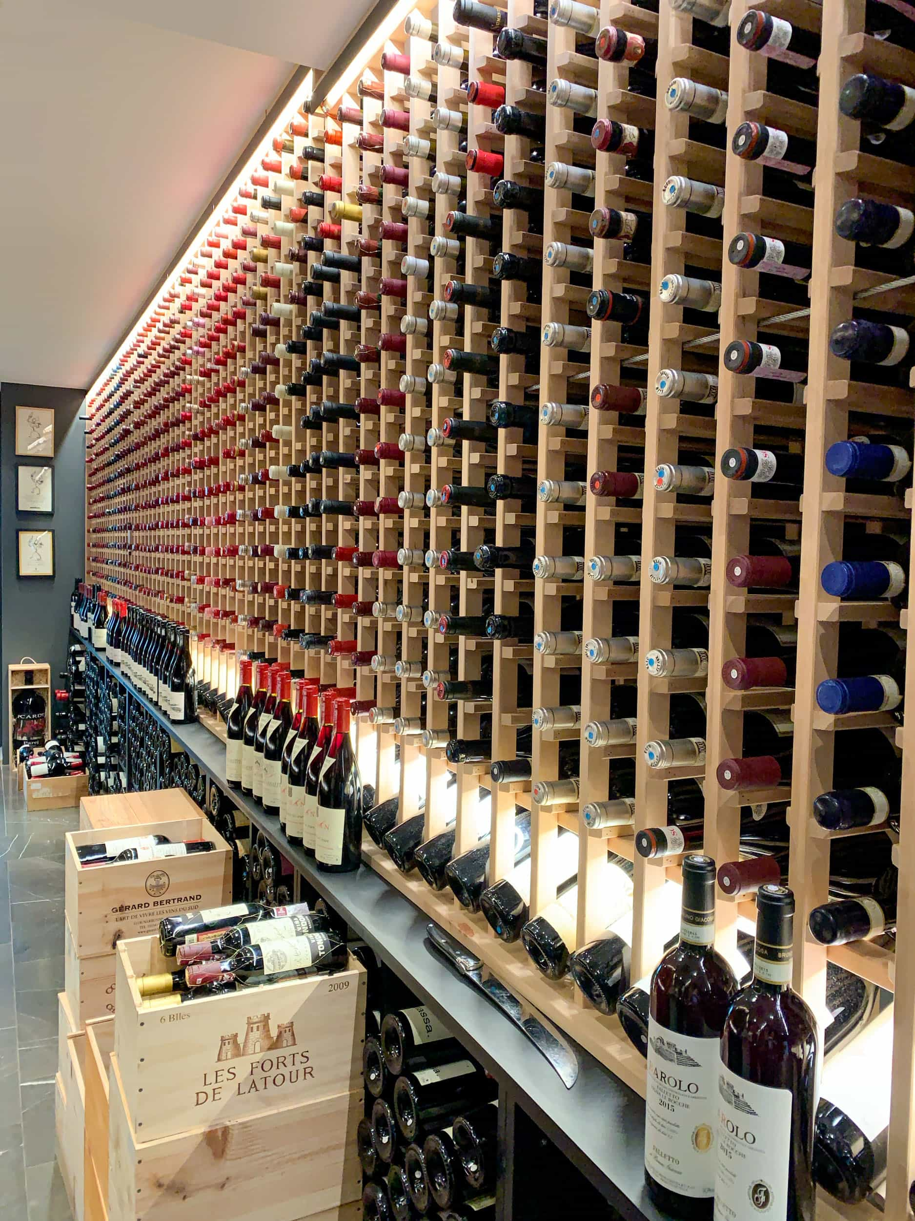 Geranium's wine storage