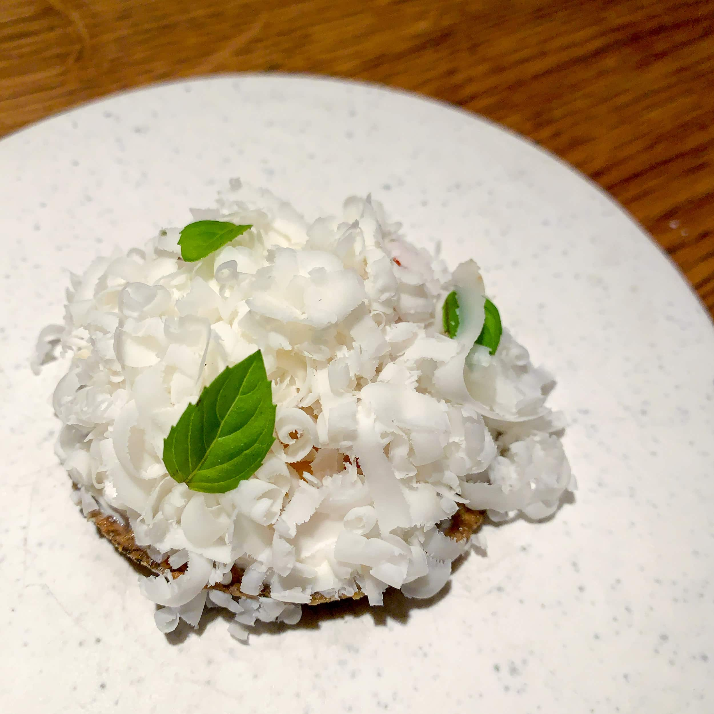 Aged goat cheese at Restaurant Relae