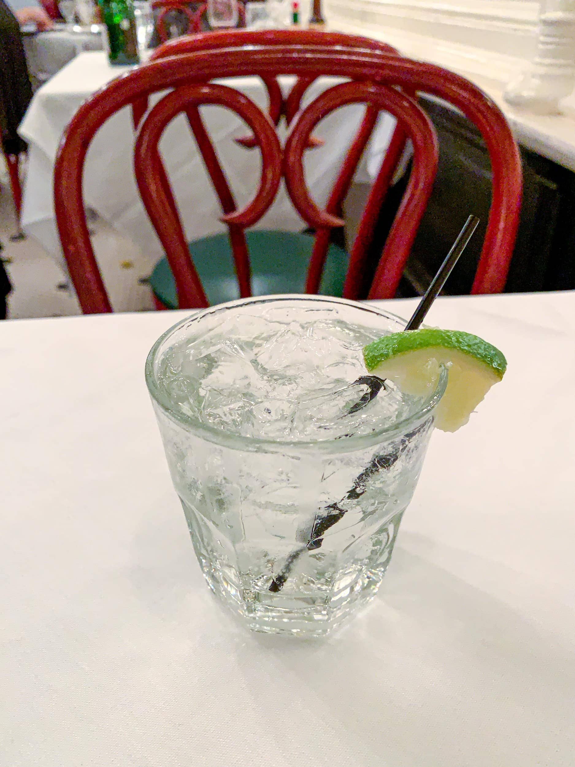 Hendrick's Orbium gin and tonic
