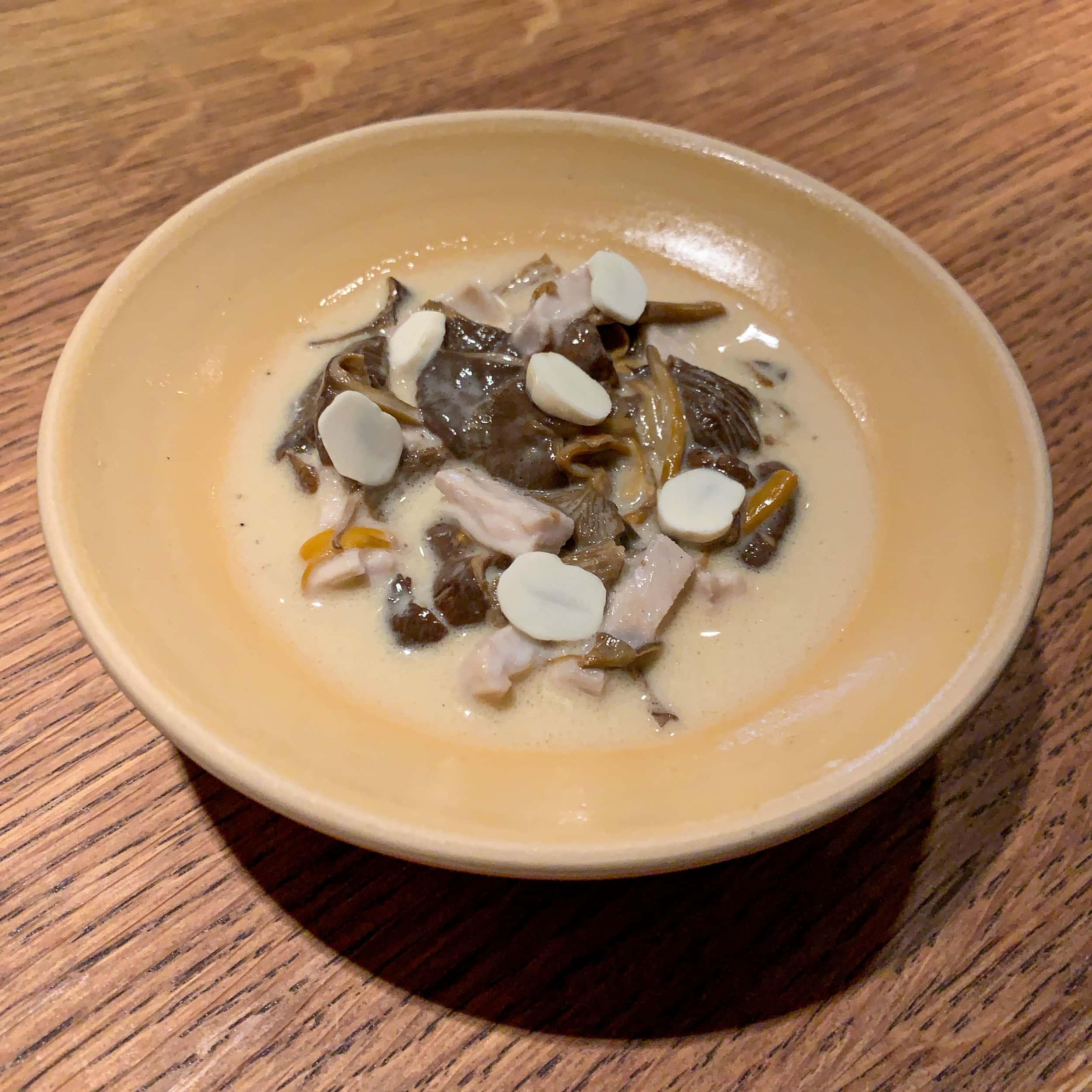 Mushroom and rabbit soup