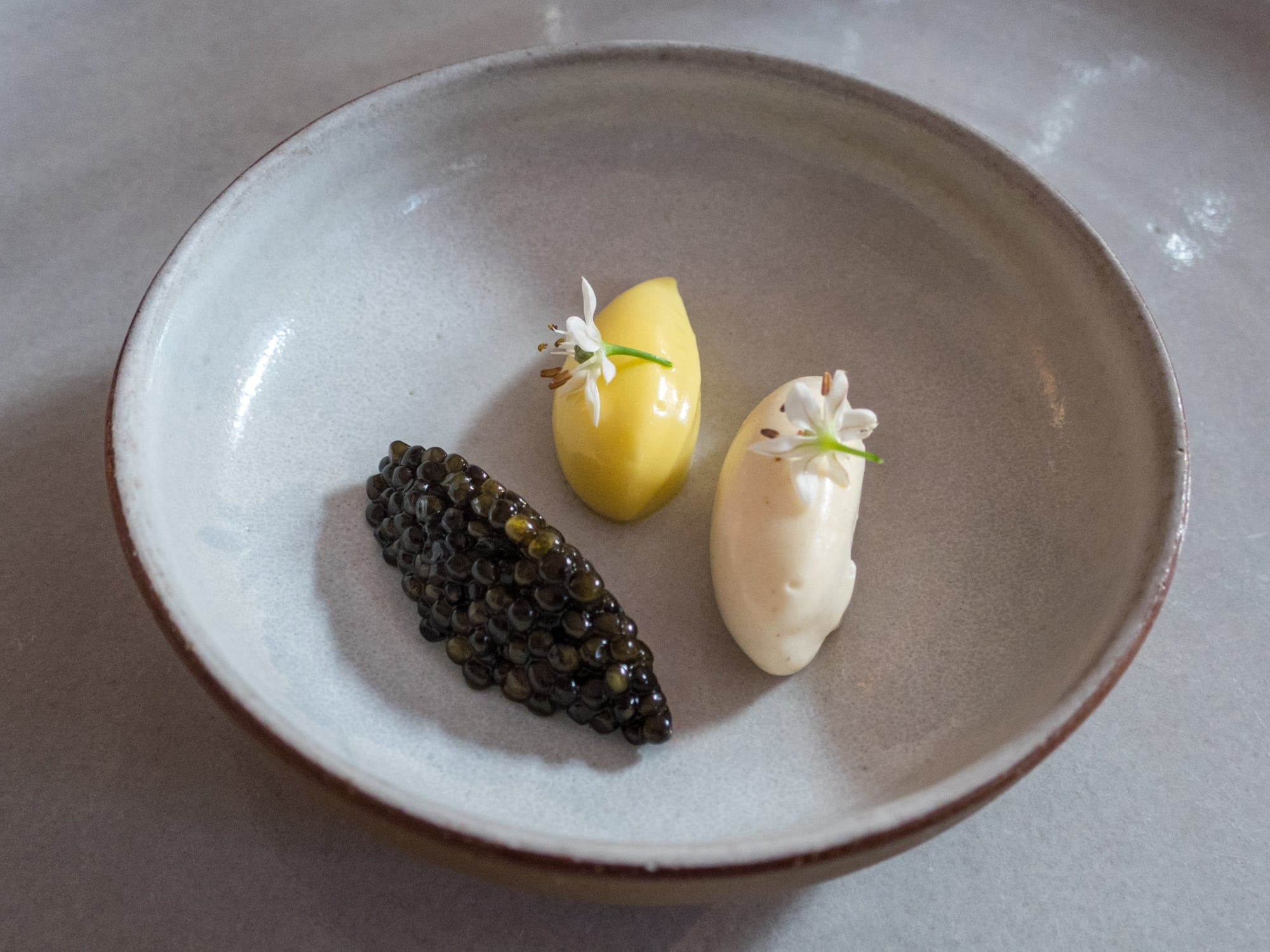Caviar at Eleven Madison Park, one of the best restaurants in the world