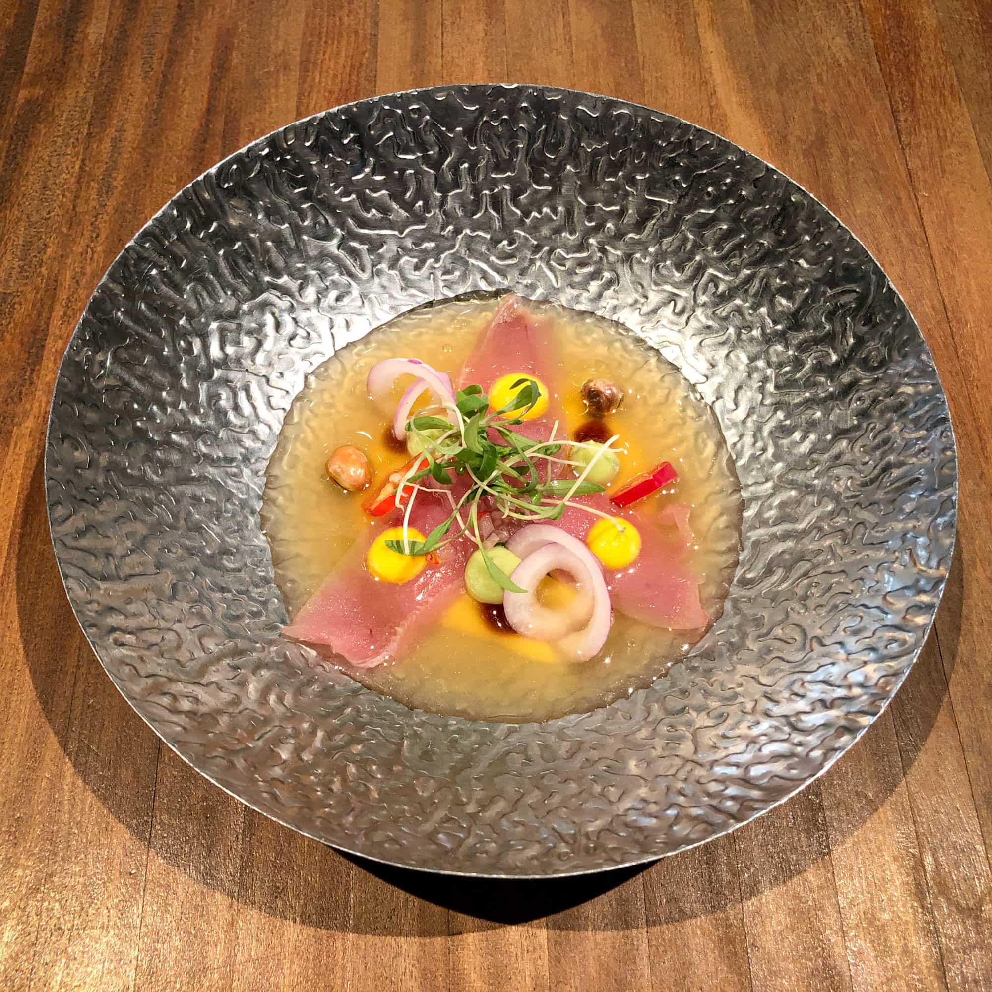 Ceviche at Maido, one of the best restaurants in Latin America