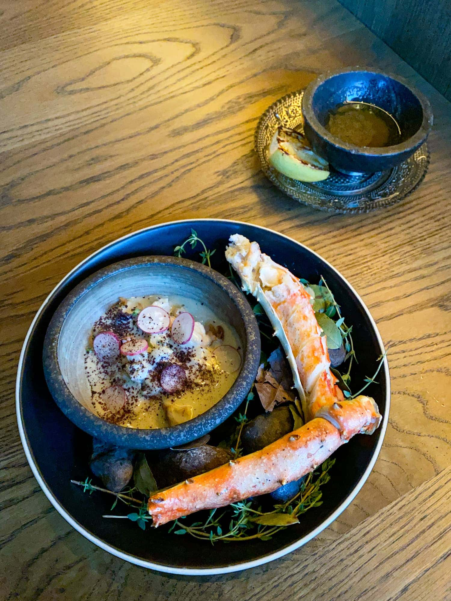 King crab with kelp butter
