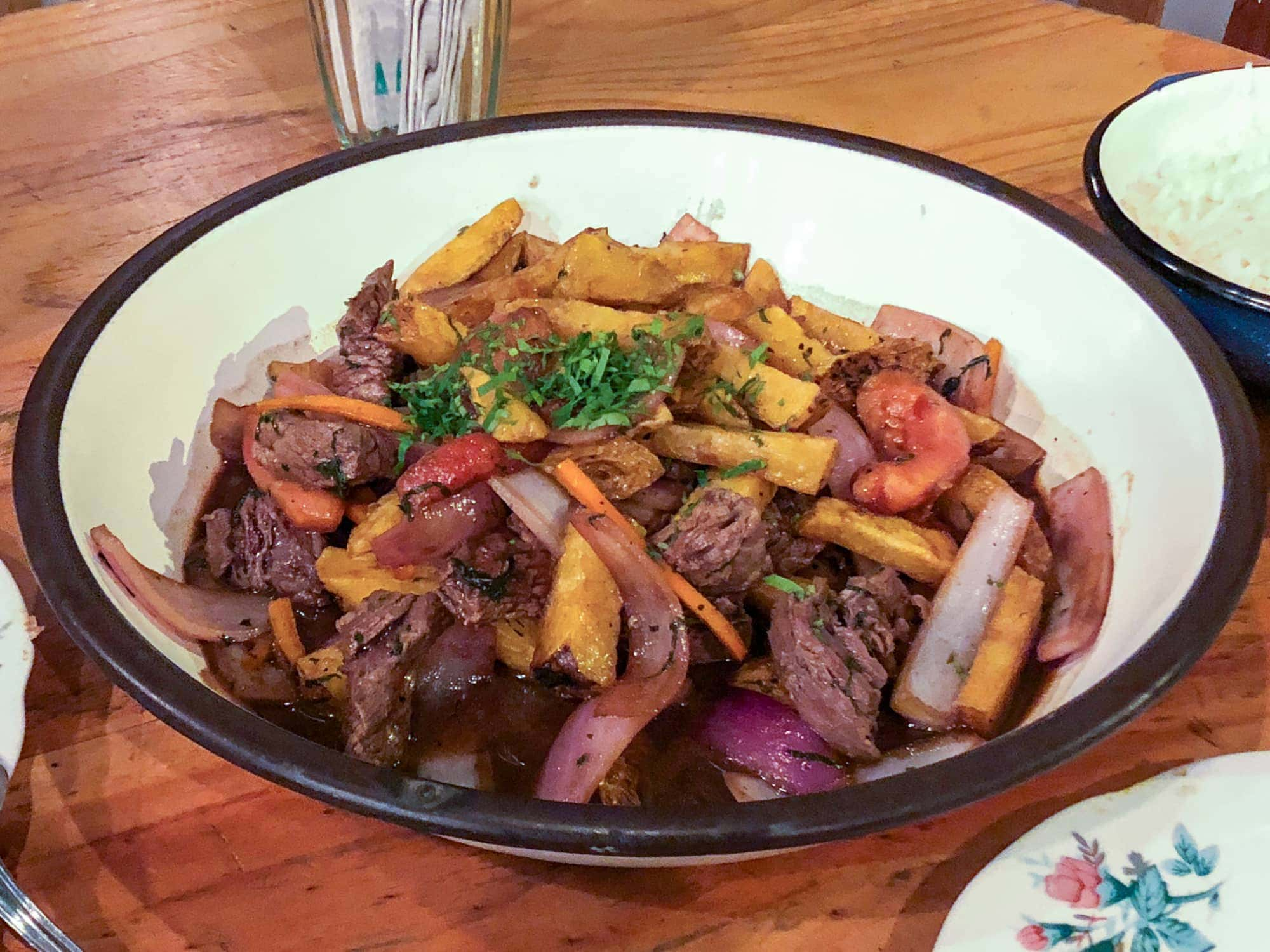 Lomo saltado at Isolina
