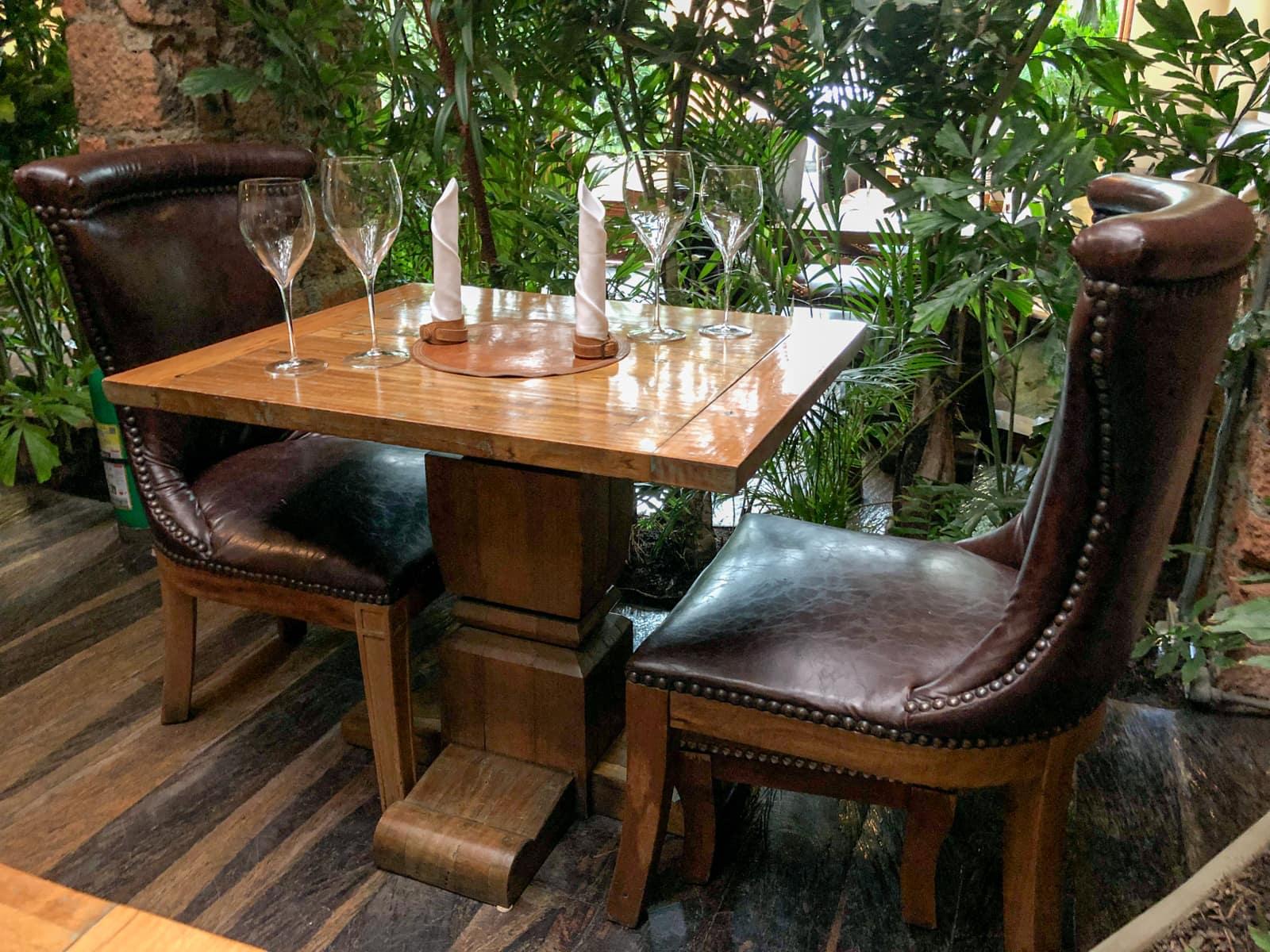 Table at El Cielo Medellín