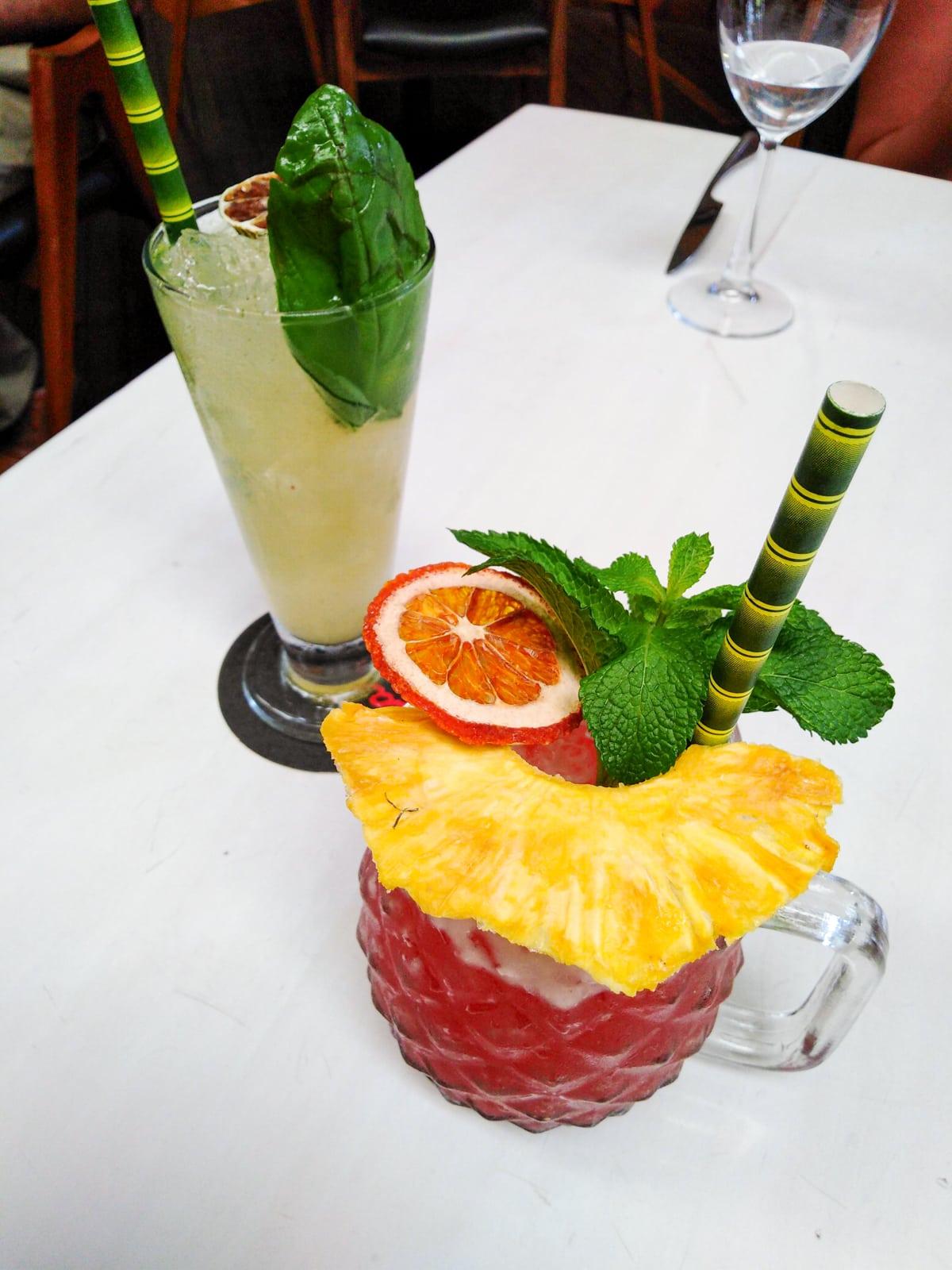 Zombie rum cocktail at Carmen Medellín
