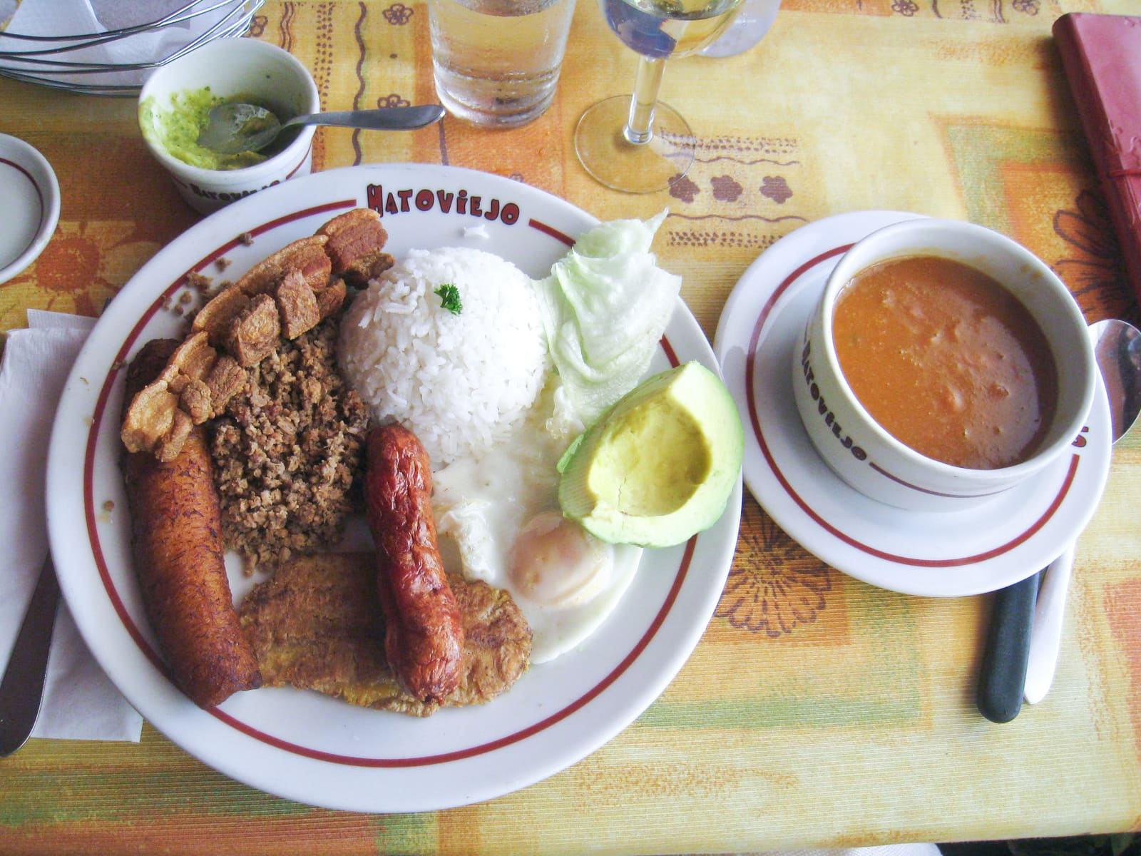 Bandeja Paisa at Hatoviejo in downtown Medellín, Colombia