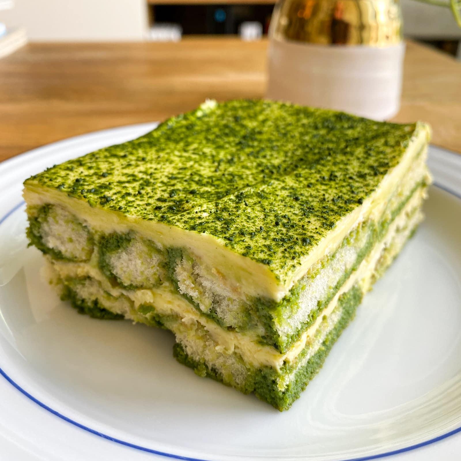 Matcha tiramisu from Fukumoto