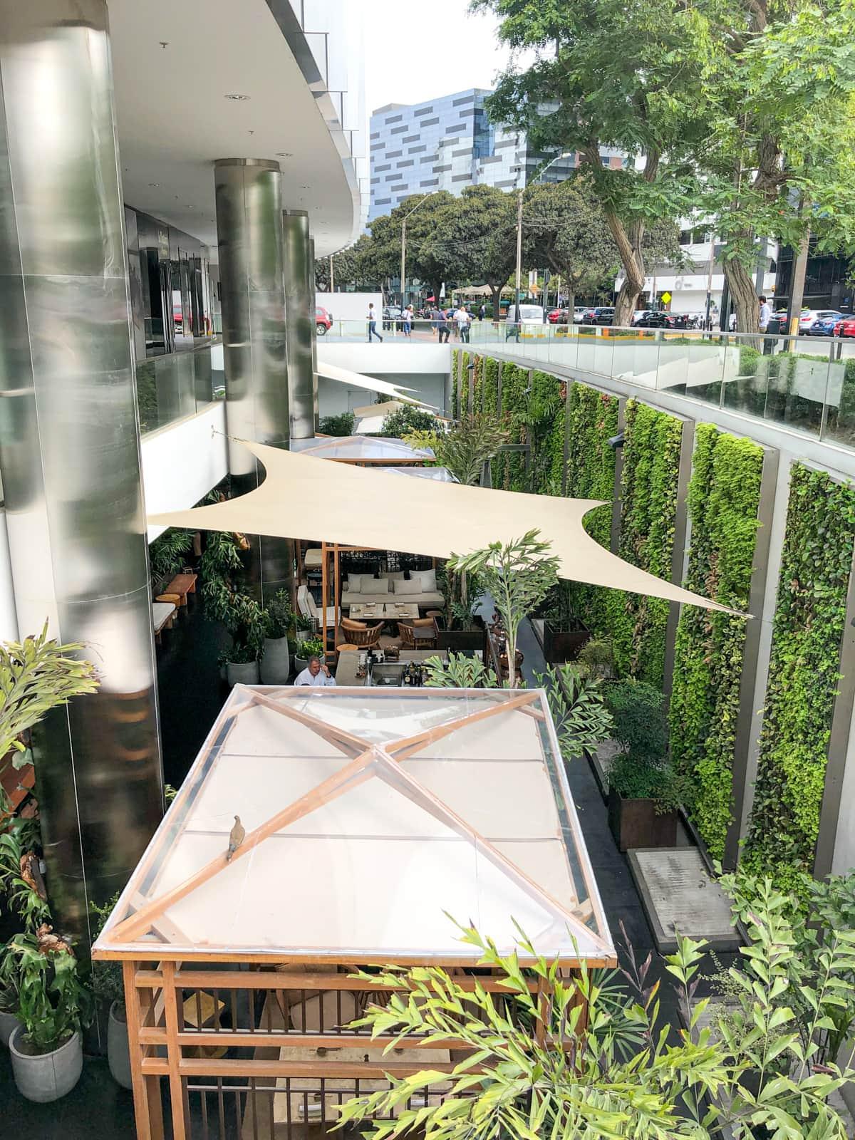 Outdoor bar and lounge at Osaka San Isidro