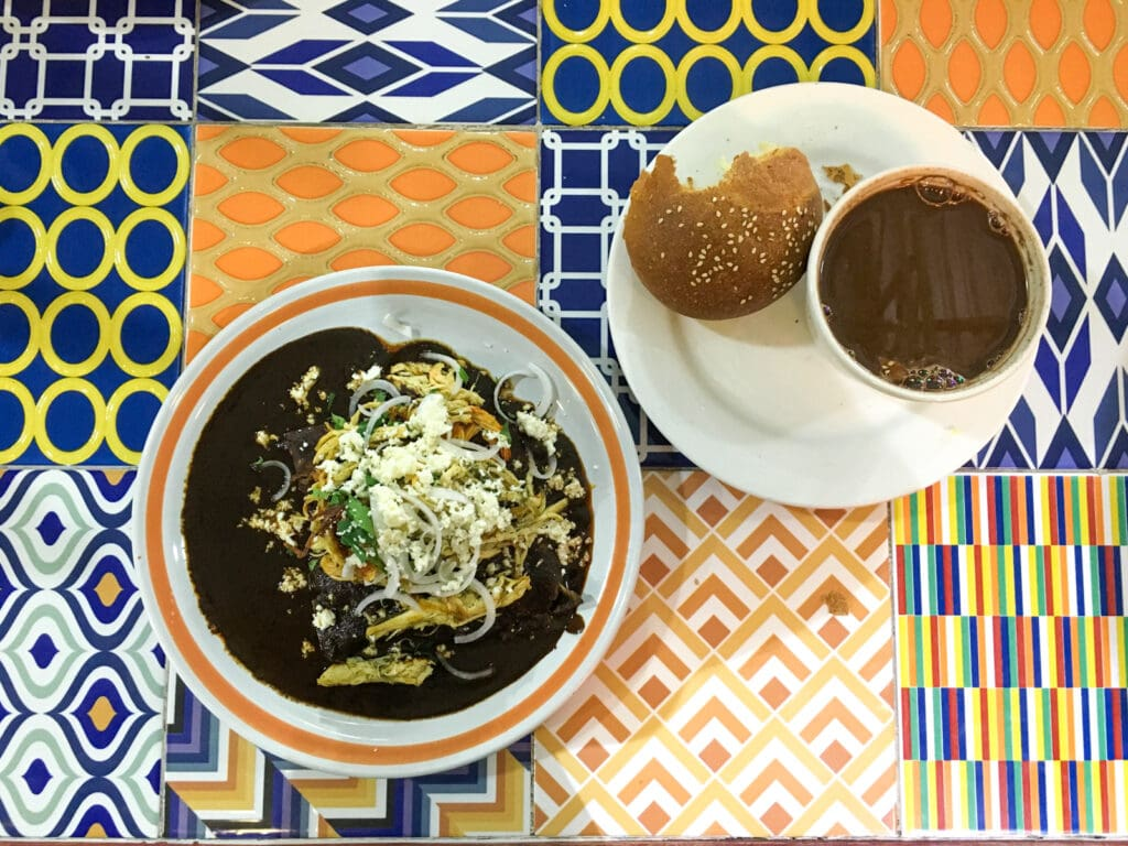 Mole and hot chocolate