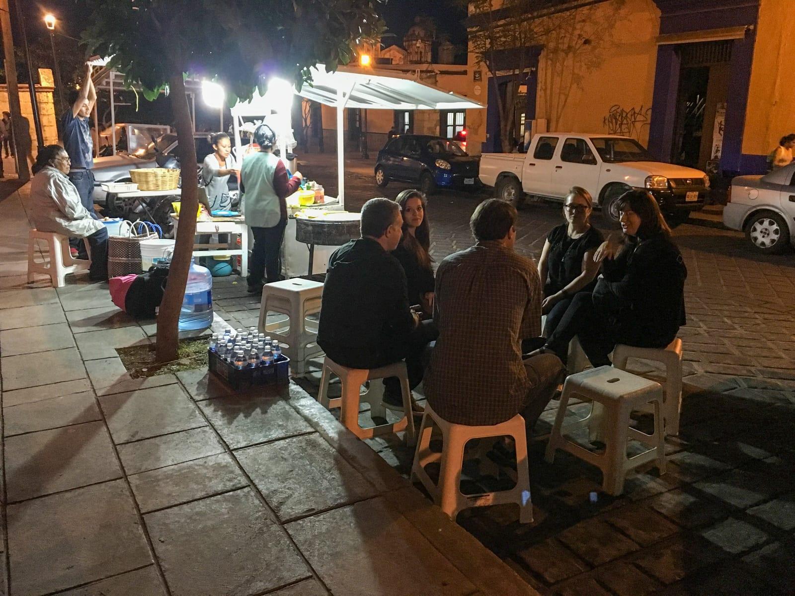 Street dining in Oaxaca